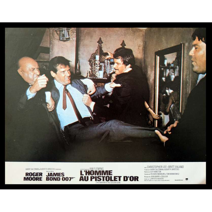 THE MAN WITH THE GOLDEN GUN French Lobby Card 1 9x12 - 1974 - Guy Hamilton, Roger Moore
