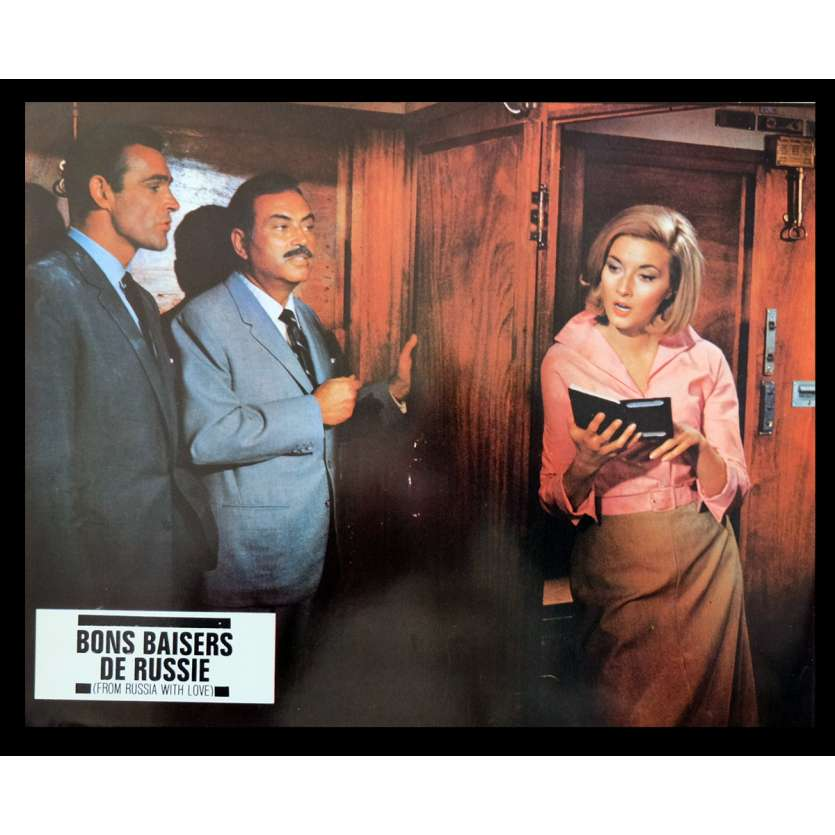 FROM RUSSIA WITH LOVE French Lobby Card 3 9x12 - R70 - Terence Young, Sean Connery