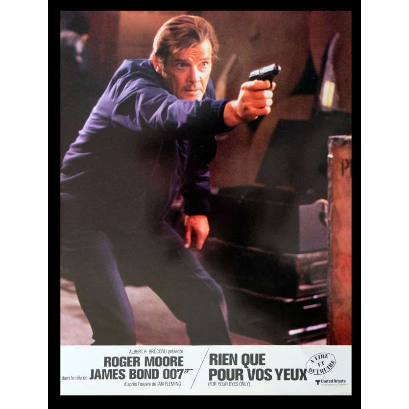 FOR YOUR EYES ONLY French Lobby Card 2 9x12 - 1983 - John Glen, Roger Moore