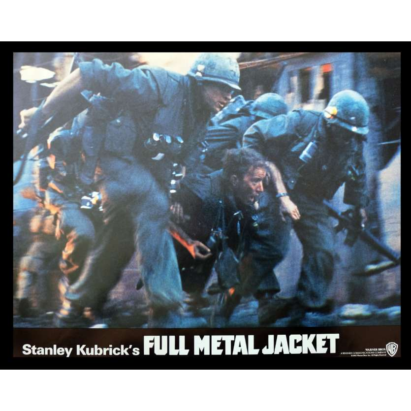 FULL METAL JACKET British Lobby Card 1 11x14 - 1987 - Stanley Kubrick, Matthew Modine