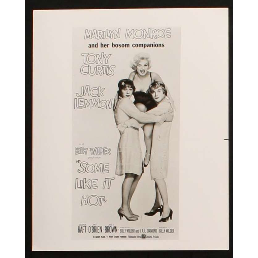 SOME LIKE IT HOT US Still 3 8x10 - R1980 - Billy Wilder, Marilyn Monroe