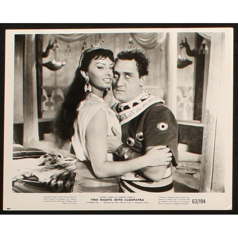 TWO NIGHTS WITH CLEOPATRA US Still 3 8x10 - 1954 - Mario Mattoli, Sophia Loren