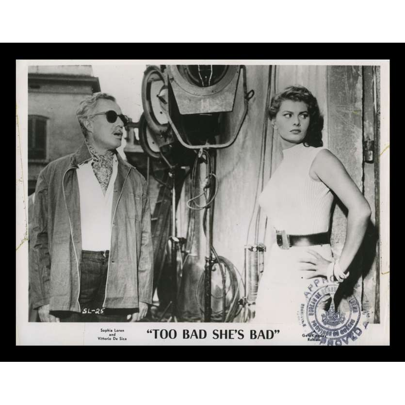 TOO BAD SHE'S BAD US Still 3 8x10 - 1955 - Alessandro Blasetti, Sophia Loren