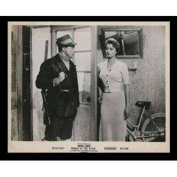 WOMAN OF THE RIVER US Still 5 8x10 - 1954 - Mario Soldati, Sophia Loren