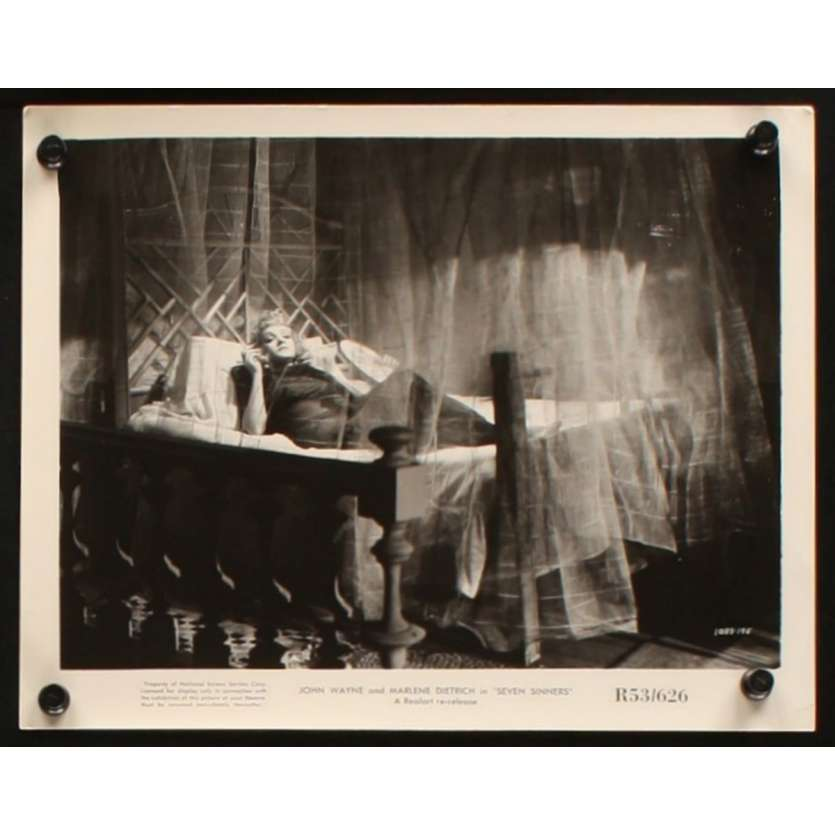 SEVEN SINNERS US Still 1 8x10 - 1940 - Tay Garnett, Marlene Dietrich