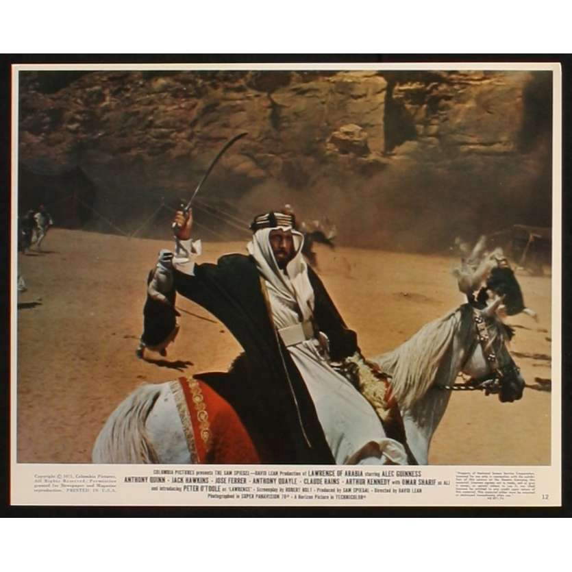 LAWRENCE OF ARABIA US Lobby Card 3 8x10 - R1971 - David Lean, Peter O'Toole