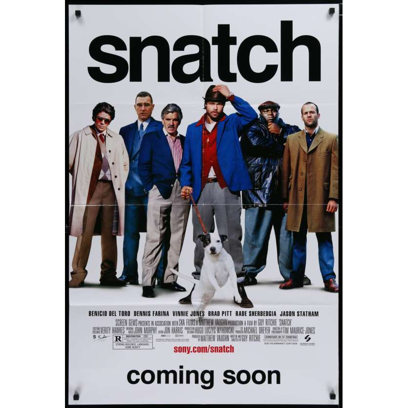 SNATCH US Movie Poster 29x41 - 2000 - Guy Ritchie, Brad Pitt