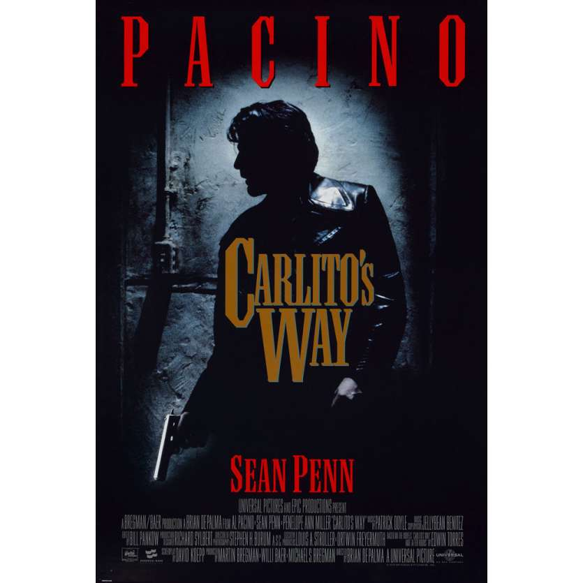 CARLITO'S WAY US Movie Poster 29x41 - 1993 - Brian de Palma, Al Pacino