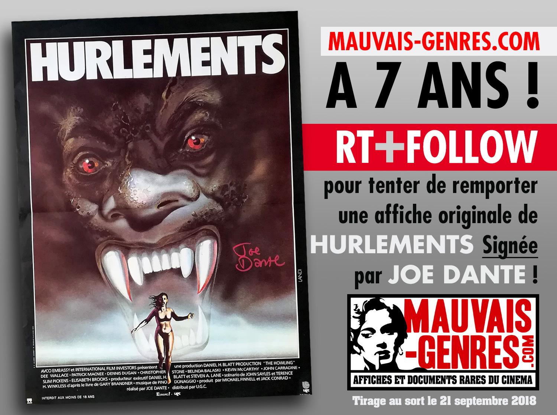 Mauvais-genres.com vous offre une affiche de cinéma dédicacée