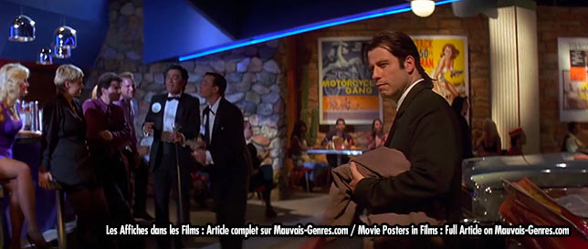 Pulp fiction posters in film