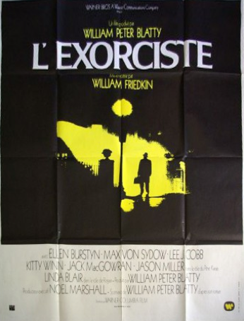 Affiche cinema originale de l'Exorciste de Friedkin